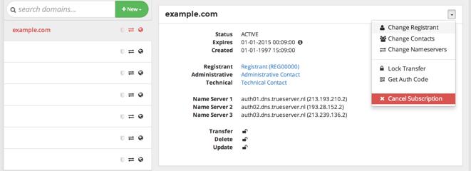 domain change registrant
